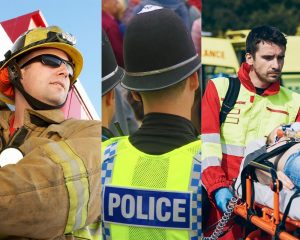 Emergency services workers - Police, Fire fighter and Ambulance staff